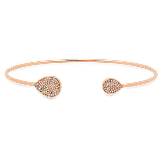 Pave Pear Open Cuff | Harrisons Collection
