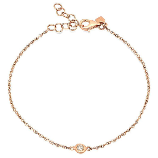 Diamond Solitaire Chain Bracelet | Harrisons Collection