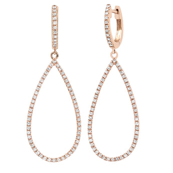Open Diamond Pear Shape Earrings | Harrisons Collection