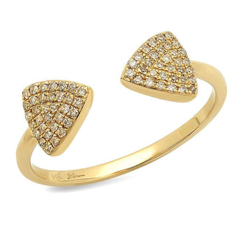 Double Diamond Triangle Ring | Harrisons Collection
