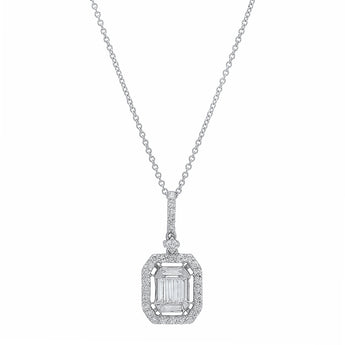 Baguette Pendant Necklace | Harrisons Collection