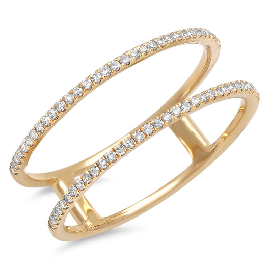 Double Diamond Micro Bands | Harrisons Collection