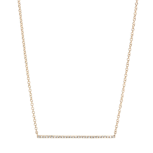 Diamond Bar Necklace | Harrisons Collection