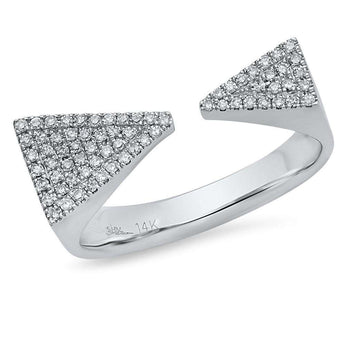 Diamond Long Triangles Ring | Harrisons Collection