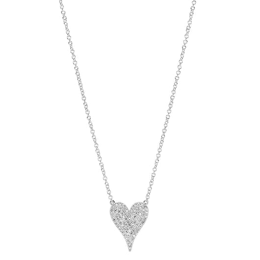 Pave Diamond Heart Necklace | Harrisons Collection