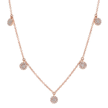 Pave Diamond Hanging Circle Necklace | Harrisons Collection