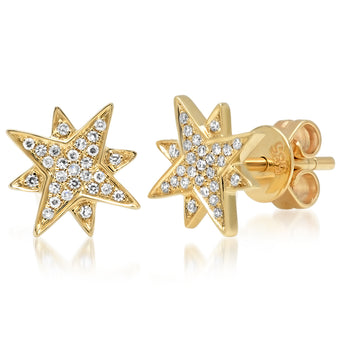 Diamond Sunshine Studs | Harrisons Collection