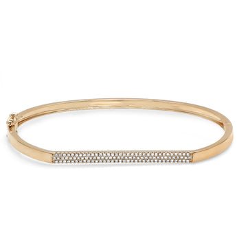 Pave Diamond ID Bar Bangle | Harrisons Collection