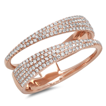 Pave Open Spiral Ring | Harrisons Collection