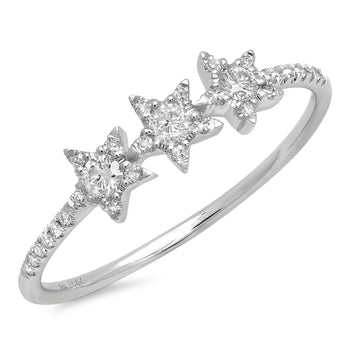 Triple Diamond Star Ring | Harrisons Collection