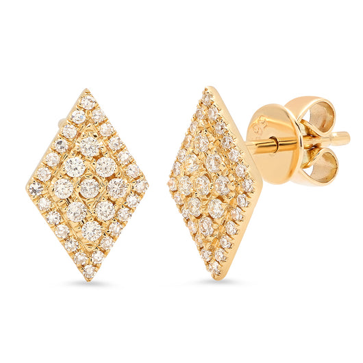 Diamond Shape Pave Studs | Harrisons Collection