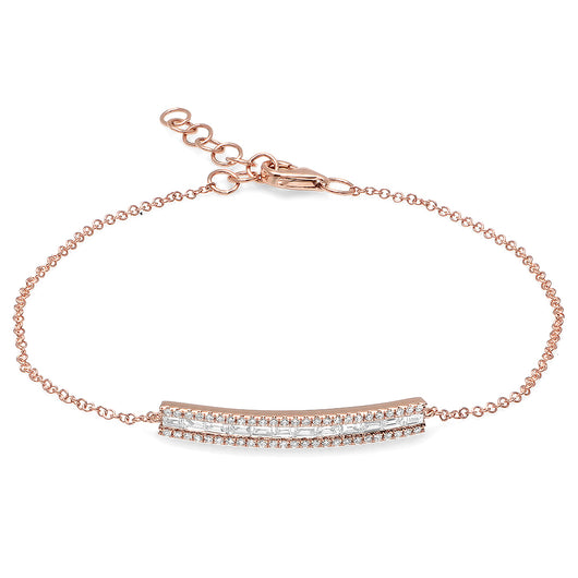Baguette Diamond Bar Bracelet | Harrisons Collection
