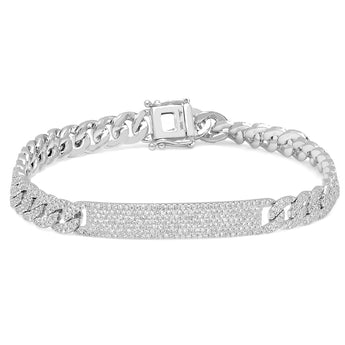 Pave Diamond Chain Link Bracelet | Harrisons Collection
