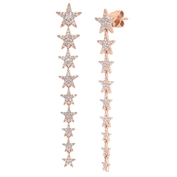 Long Diamond Star Earrings | Harrisons Collection