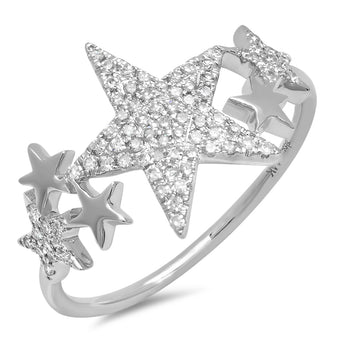 Diamond Star Ring | Harrisons Collection