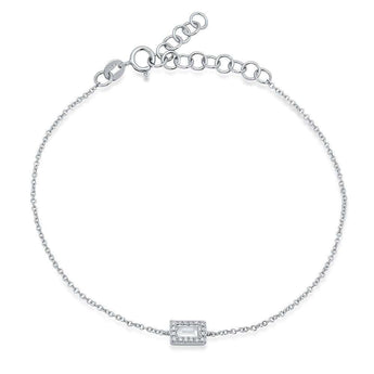 Baguette Station Chain Bracelet | Harrisons Collection