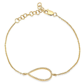 Open Pear Chain Bracelet | Harrisons Collection