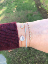 Rainbow Moonstone & Diamond Open Cuff | Harrisons Collection