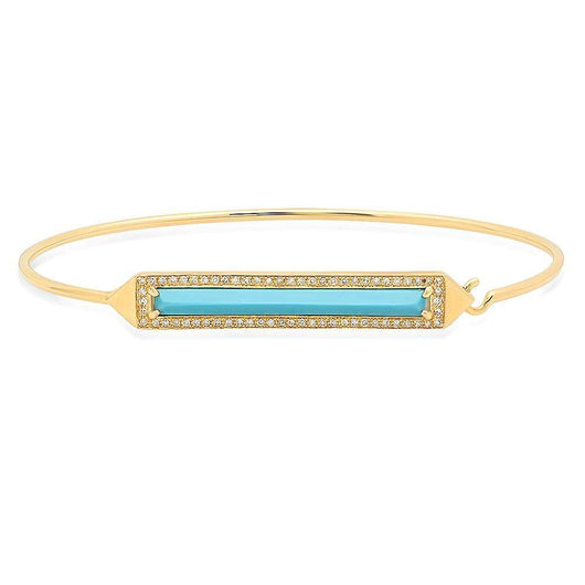 Turquoise and Diamond Cuff | Harrisons Collection