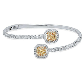 Yellow and White Diamond Cuff | Harrisons Collection
