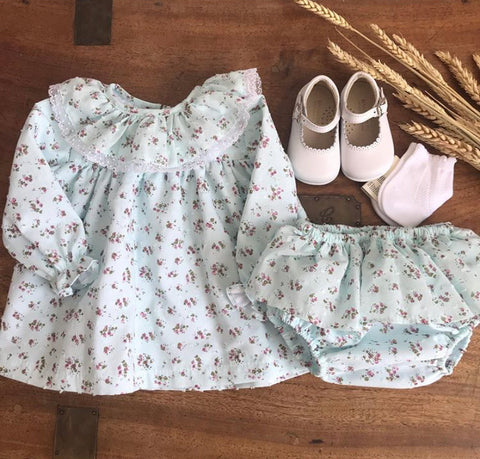 Clelia baby set in mint green