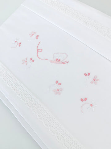 Pink Butterflies Bed Linen set