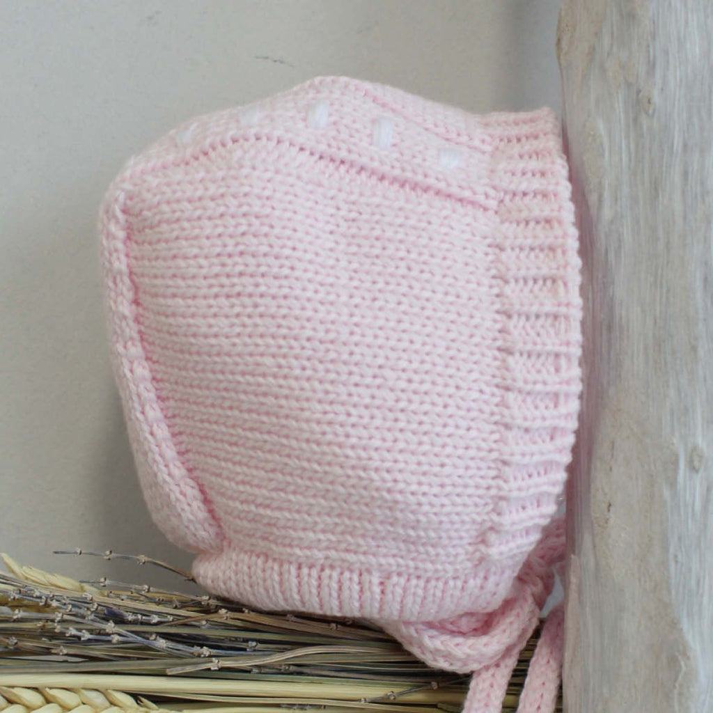 Cotton pink bonnet