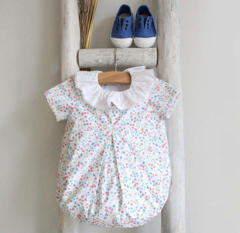 Blue flowers romper