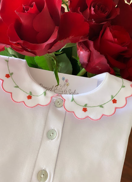 T-shirt long sleeves - Red flowers