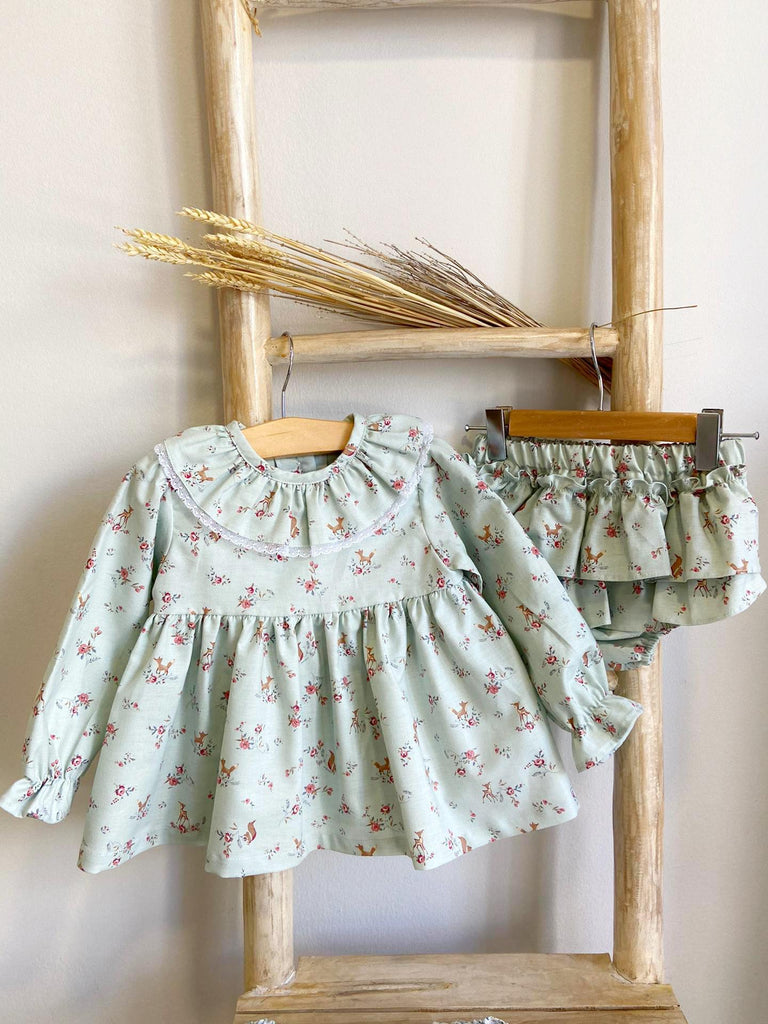 Green forest baby set