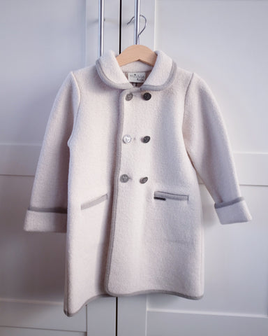 Cream wool coat