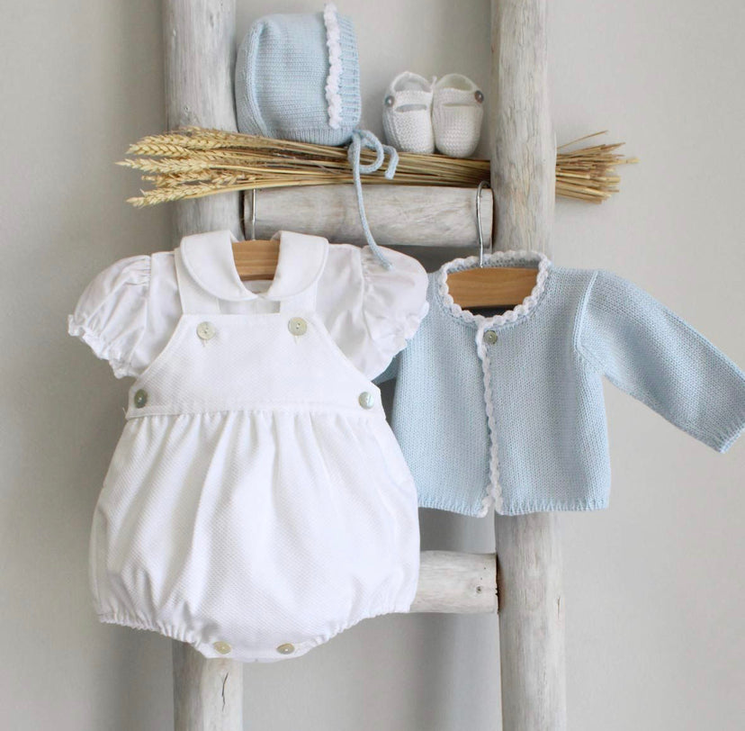 Oliver romper in white