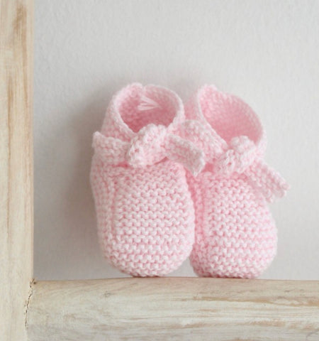 Cotton booties in pink