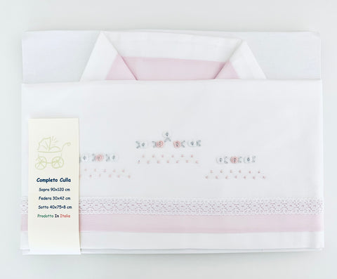 Rosebud Bed Linen set - pink