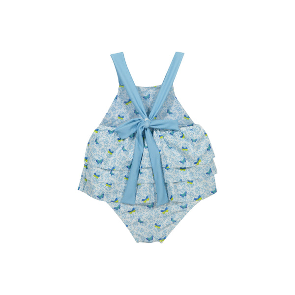 Blue butterflies  bathing suit