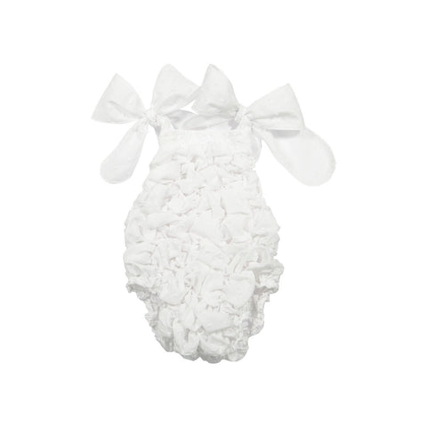 Baby white plumetti swimsuit