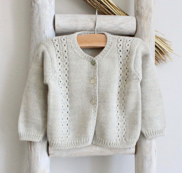 Knitted cardigan  in grey
