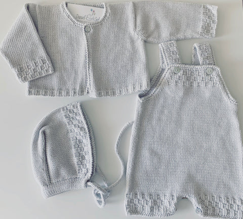 Baby set in pearl grey