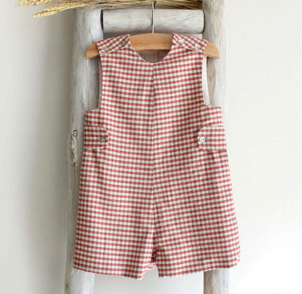 Oliver checked romper