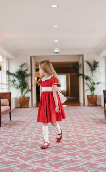 Vendome red velvet dress