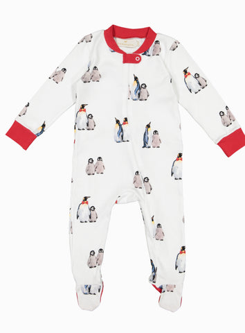 Bow-tie penguins baby pyjama