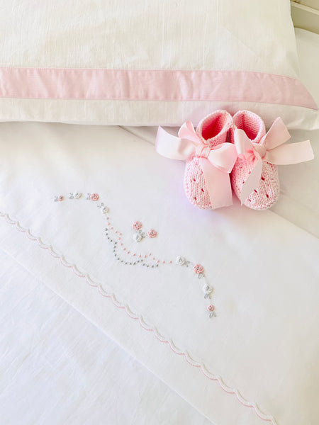 Bow Bed Linen set - pink