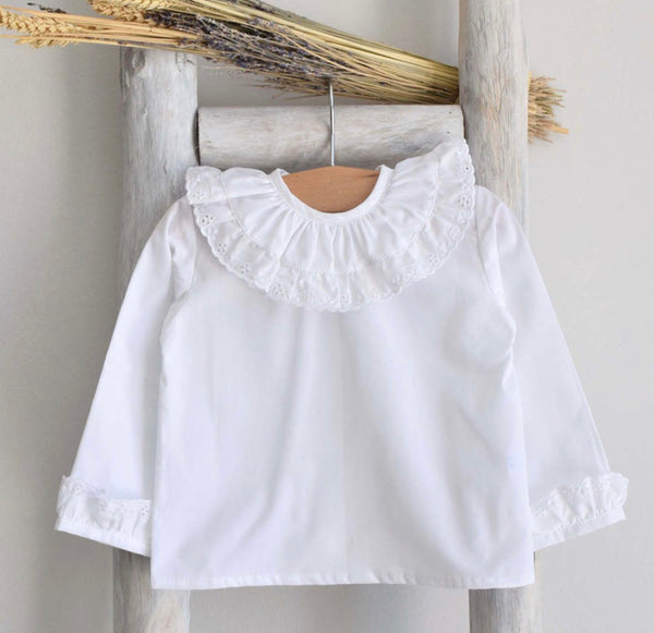 White shirt with broderie anglaise