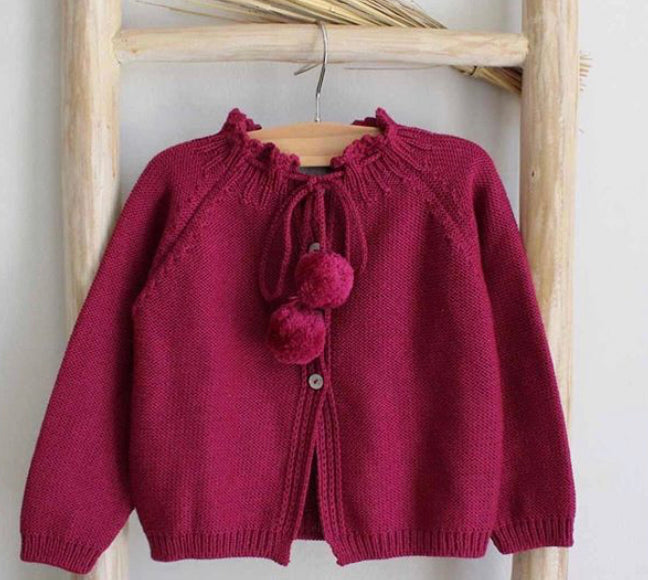 Pom Pom cardigan (more colours)
