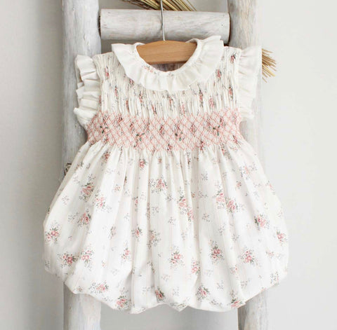 Paulina flowers romper in pink