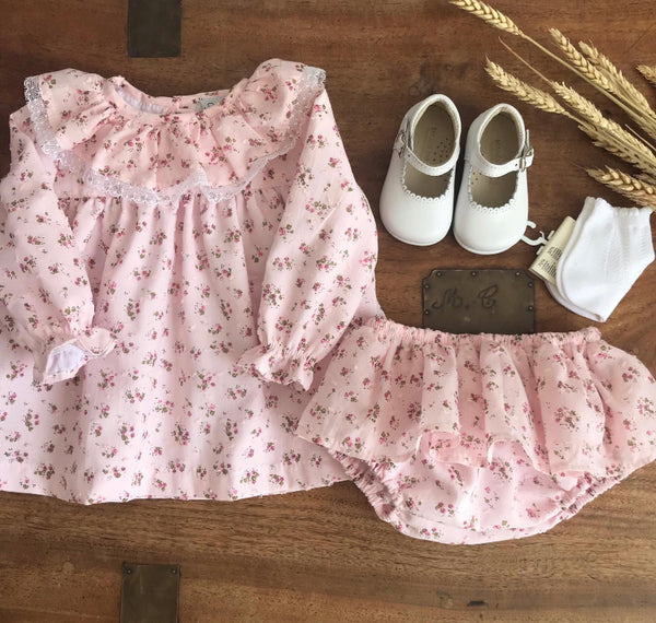Clelia baby set in pink