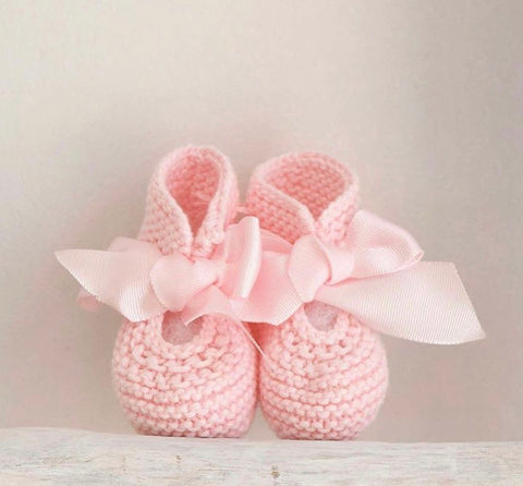 Organic cotton pink booties