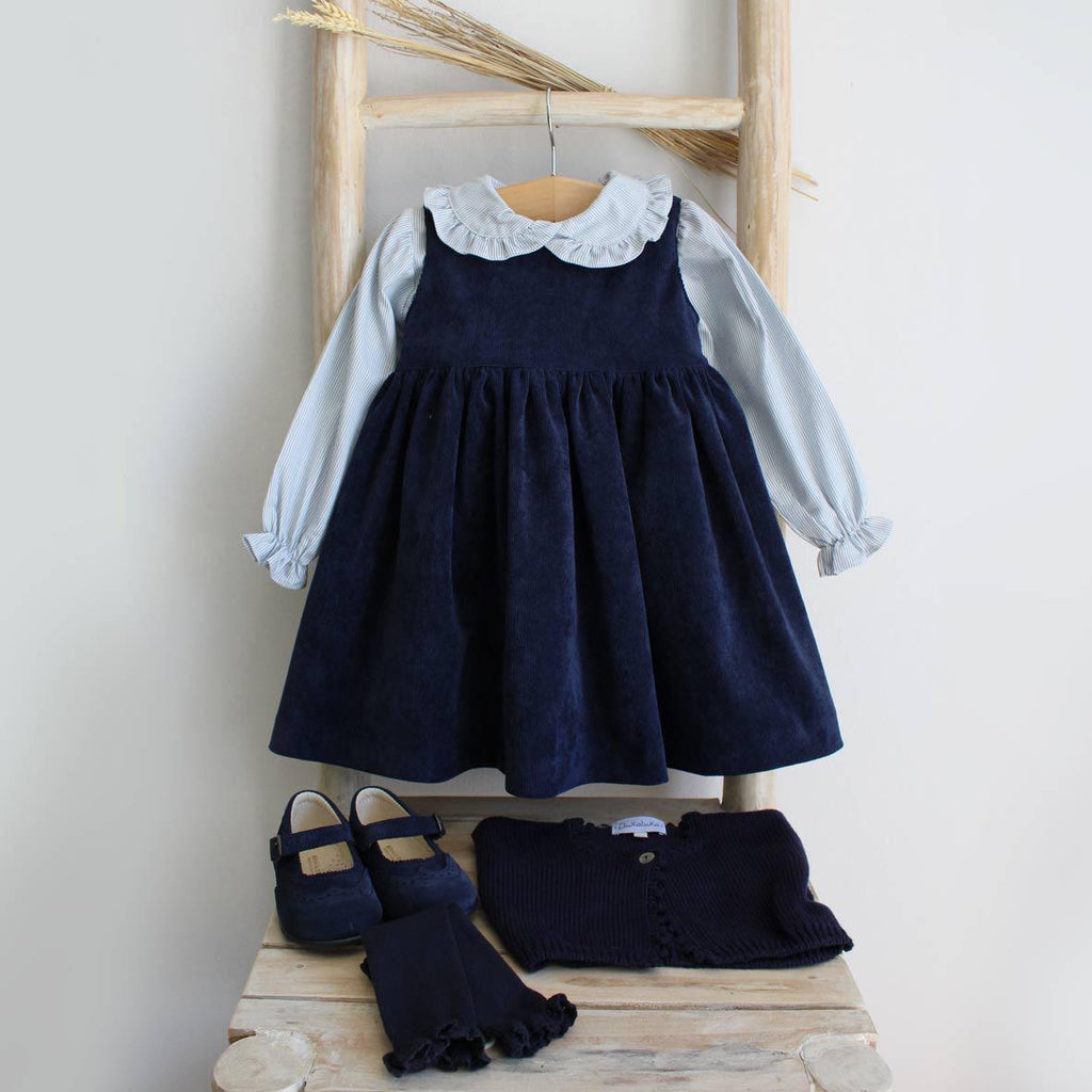 Navy blue corduroy dress