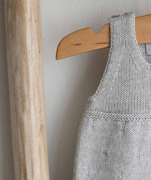 Knitted grey romper