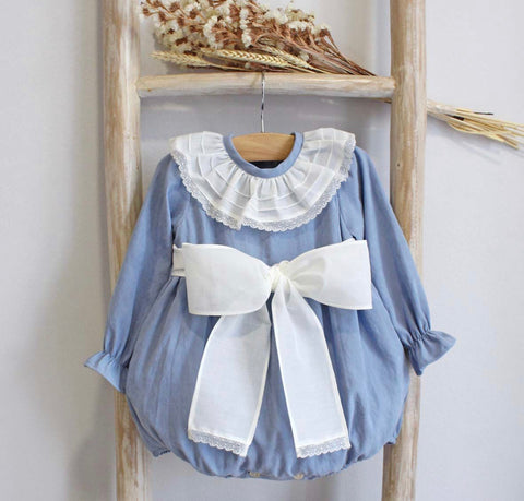 Sienna blu romper with bow